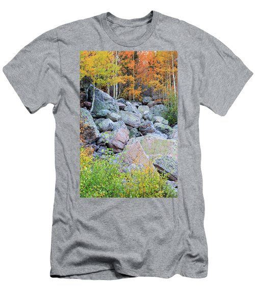 Men's T-Shirt (Slim Fit) featuring the photograph Painted Rocks by David Chandler