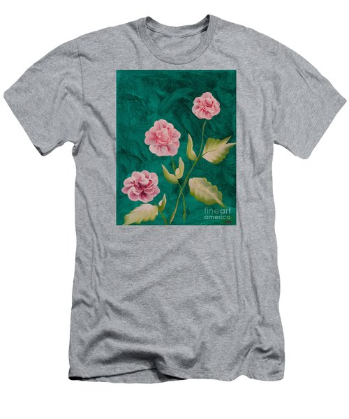 Painted Roses Men's T-Shirt (Slim Fit) by Donna Brown