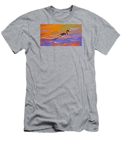 Painterly Escape Men's T-Shirt (Slim Fit) by Lisa Kaiser
