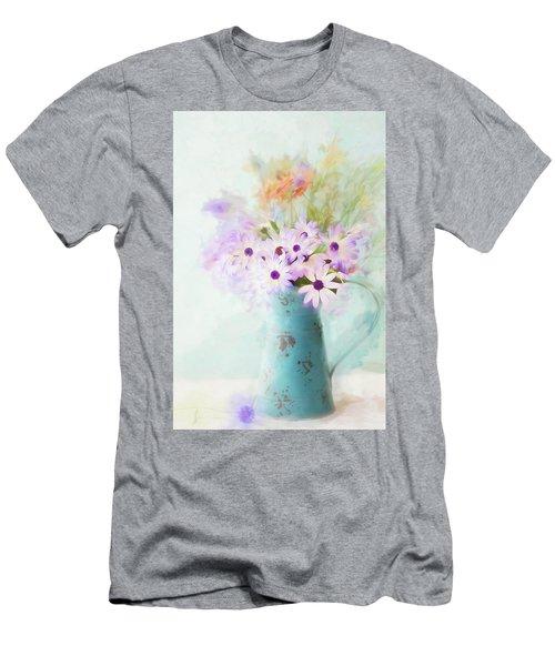 Painterly Spring Daisy Bouquet Men's T-Shirt (Athletic Fit)