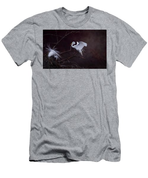 Pair Of Egrets Men's T-Shirt (Slim Fit) by Kelly Marquardt