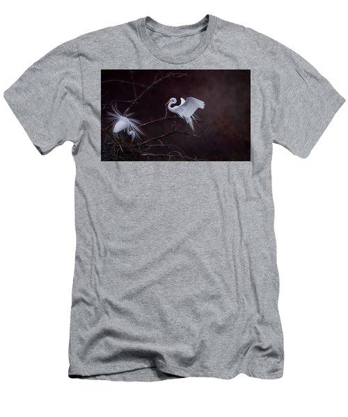 Pair Of Egrets Men's T-Shirt (Athletic Fit)