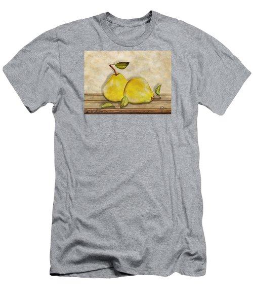 Men's T-Shirt (Slim Fit) featuring the digital art Pair Of Pears by Nina Bradica