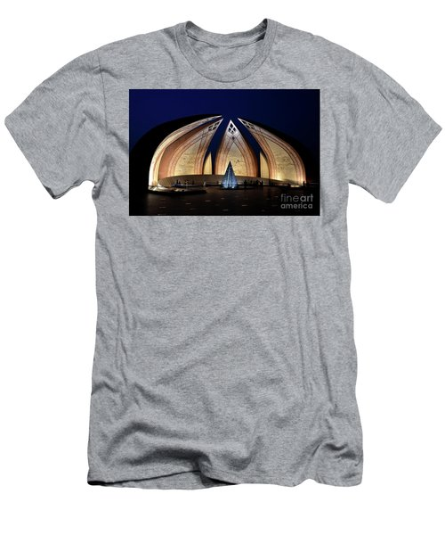 Pakistan Monument Illuminated At Night Islamabad Pakistan Men's T-Shirt (Athletic Fit)