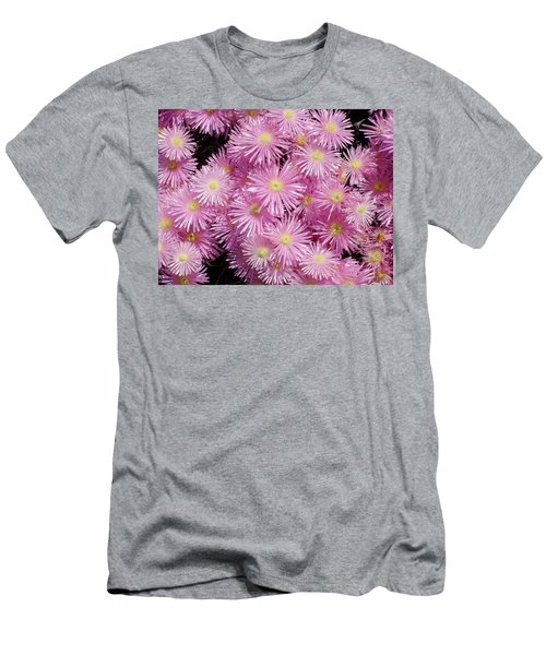 Pale Pink Flowers Men's T-Shirt (Slim Fit) by Mark Barclay