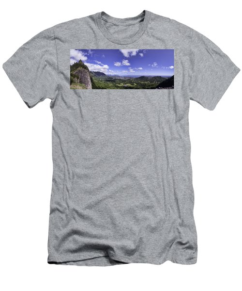 Pali Lookout Panorama Men's T-Shirt (Athletic Fit)