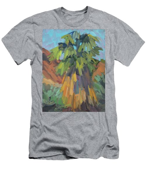Men's T-Shirt (Slim Fit) featuring the painting Palm At Santa Rosa Mountains Visitors Center by Diane McClary
