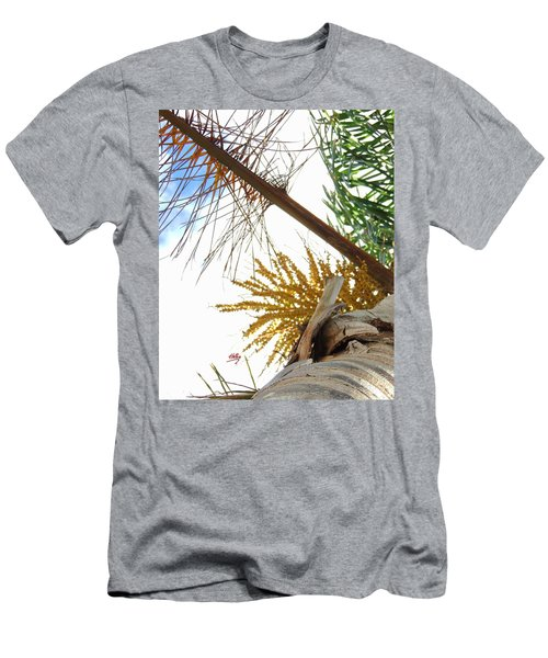 Men's T-Shirt (Slim Fit) featuring the photograph Palm Sky View by Linda Hollis