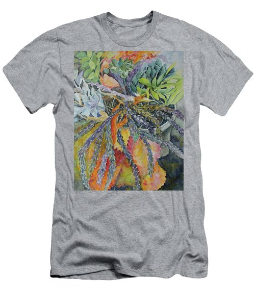 Palm Springs Cacti Garden Men's T-Shirt (Slim Fit) by Joanne Smoley