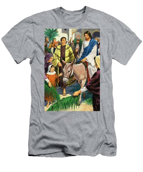 Palm Sunday Men's T-Shirt (Slim Fit) by Clive Uptton