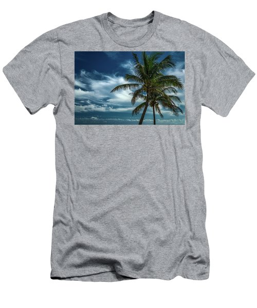 Palm Tree Against The Sky Men's T-Shirt (Athletic Fit)