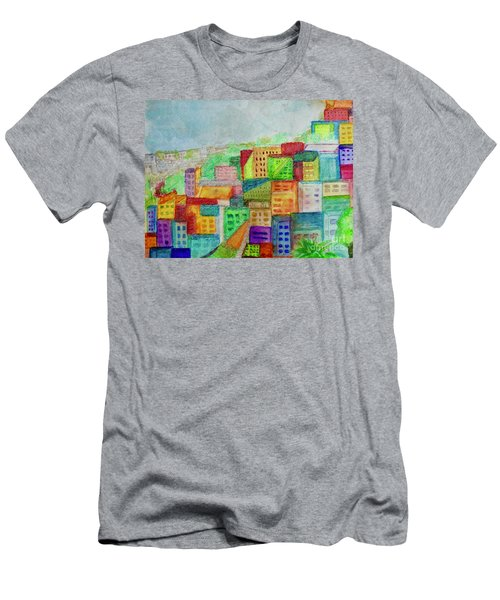 Men's T-Shirt (Slim Fit) featuring the painting Palmyra by Kim Nelson