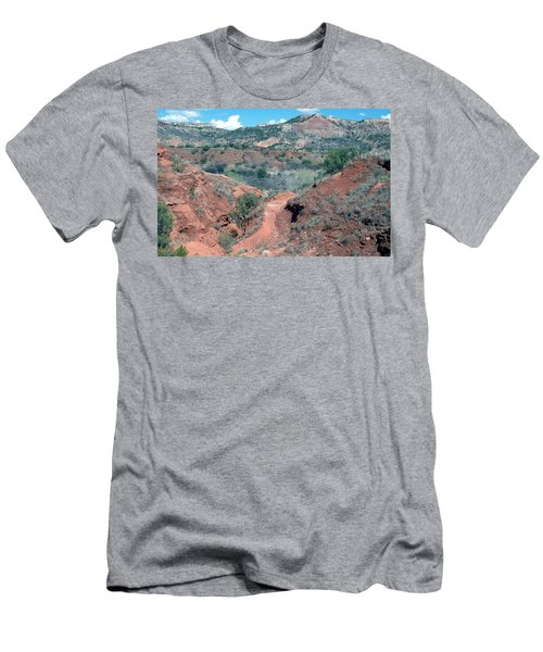 Men's T-Shirt (Athletic Fit) featuring the digital art Palo Duro Canyon by Deleas Kilgore