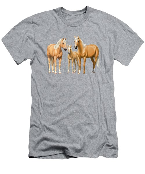 Palomino Horses In Winter Pasture Men's T-Shirt (Athletic Fit)