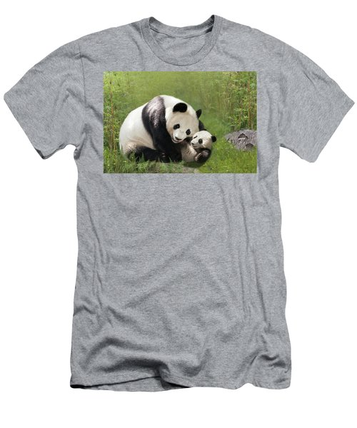 Panda Bears Men's T-Shirt (Athletic Fit)