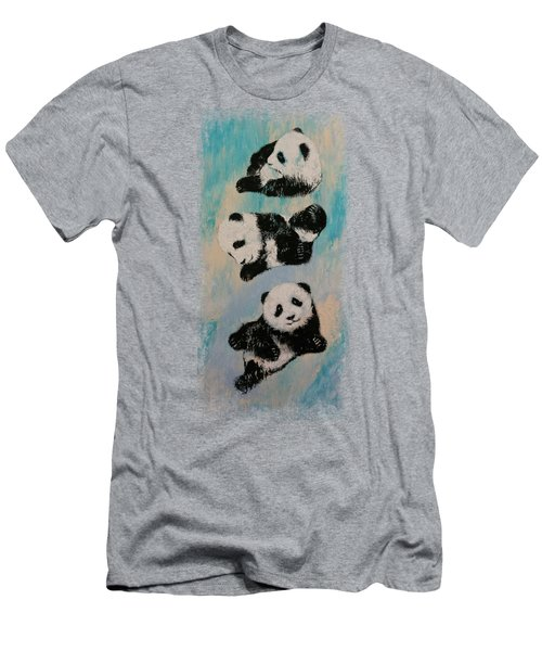 Panda Karate Men's T-Shirt (Athletic Fit)