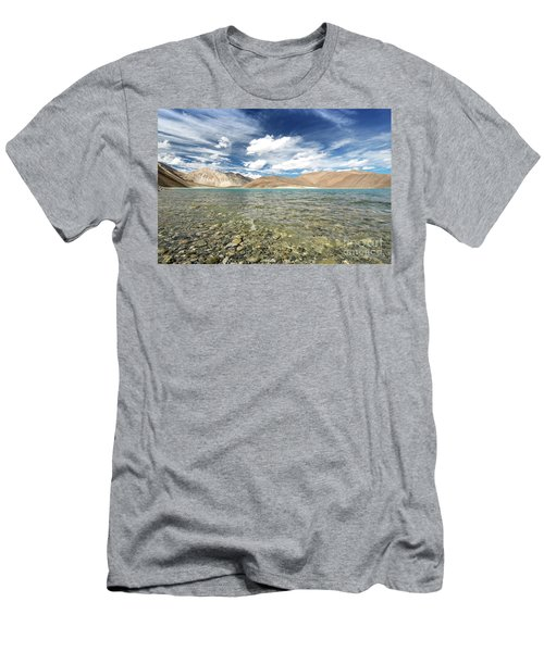 Men's T-Shirt (Athletic Fit) featuring the photograph Pangong Lake  by Yew Kwang