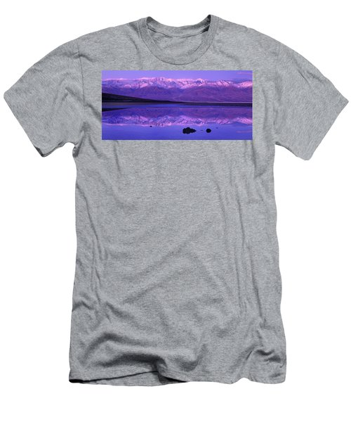 Panorama Badwater And The Panamint Range At Sunrise Death Valley Men's T-Shirt (Athletic Fit)