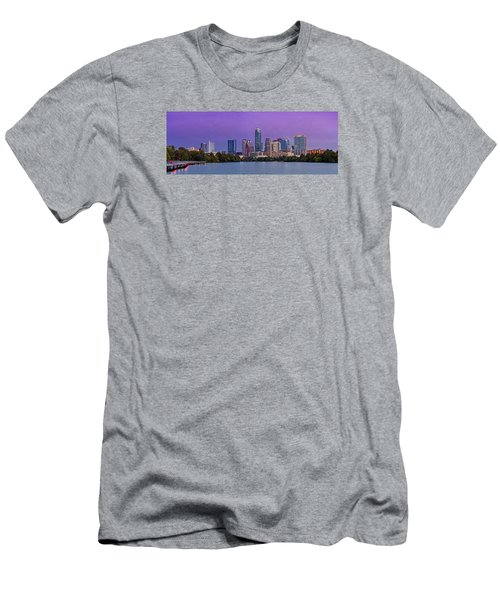 Panorama Of Downtown Austin Skyline From The Lady Bird Lake Boardwalk Trail - Texas Hill Country Men's T-Shirt (Athletic Fit)
