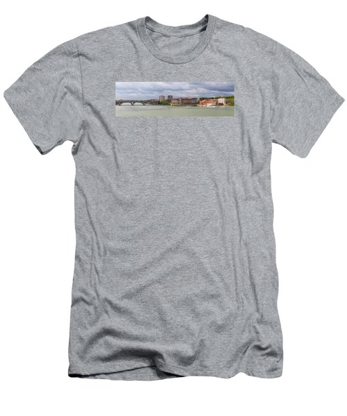 Men's T-Shirt (Slim Fit) featuring the photograph Panorama Of The Hydroelectric Power Station In Toulouse by Semmick Photo