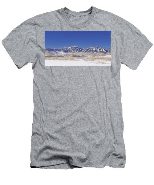 Panorama Radiation Fog Flatirons Men's T-Shirt (Athletic Fit)