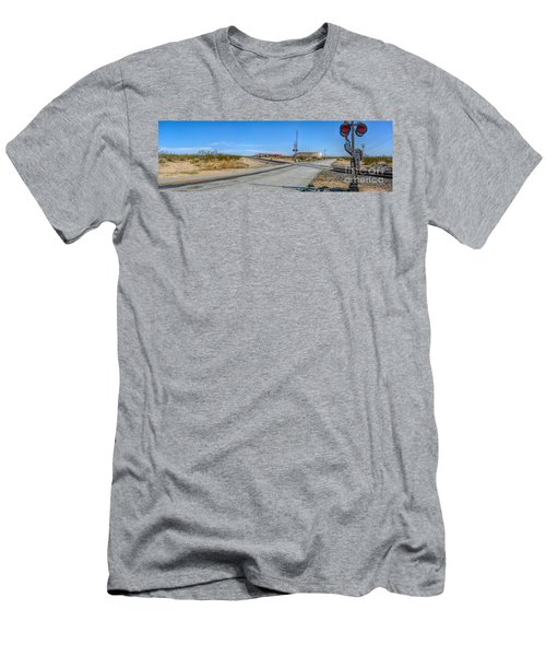 Panoramic Railway Signal Men's T-Shirt (Athletic Fit)