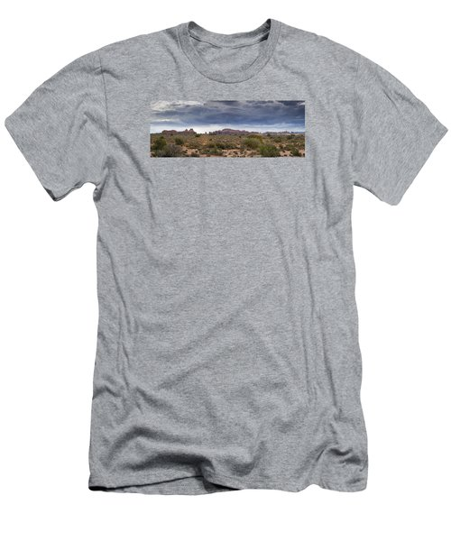 Panoramic View At Arches National Park Men's T-Shirt (Athletic Fit)