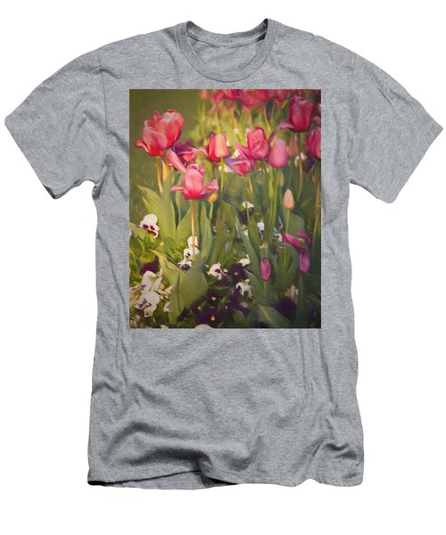 Pansies And Tulips Men's T-Shirt (Athletic Fit)