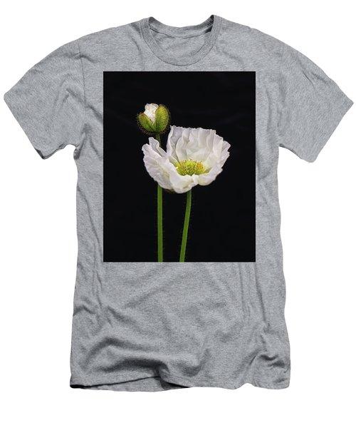 Paper White Poppy Men's T-Shirt (Athletic Fit)