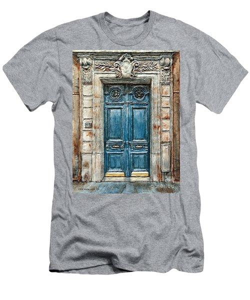 Parisian Door No. 3 Men's T-Shirt (Slim Fit) by Joey Agbayani