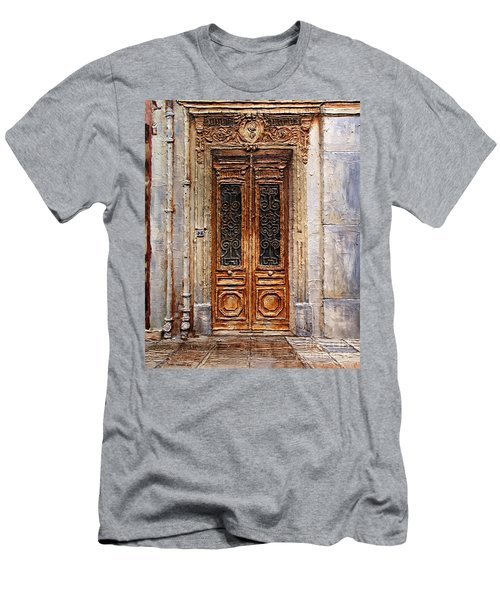 Men's T-Shirt (Slim Fit) featuring the painting Parisian Door No.7 by Joey Agbayani