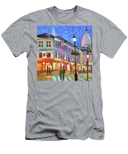 Parisian Street Men's T-Shirt (Athletic Fit)