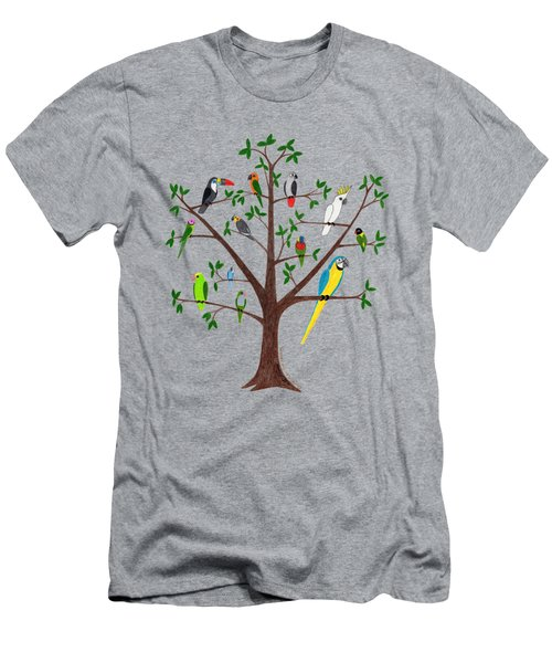 Parrot Tree Men's T-Shirt (Slim Fit) by Rita Palmer