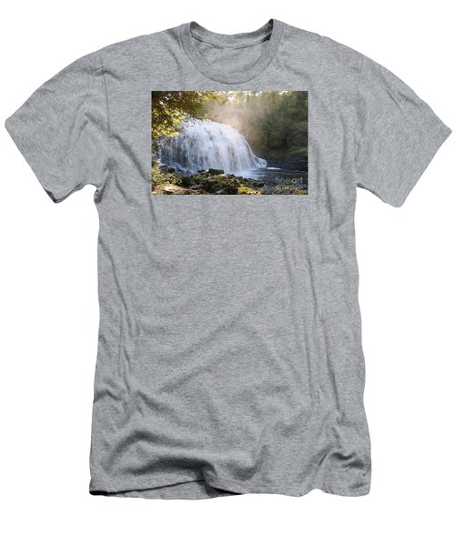 Men's T-Shirt (Slim Fit) featuring the photograph Partridge Falls by Sandra Updyke