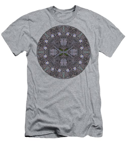 Pasque Spring Flower Kaleidoscope Men's T-Shirt (Athletic Fit)