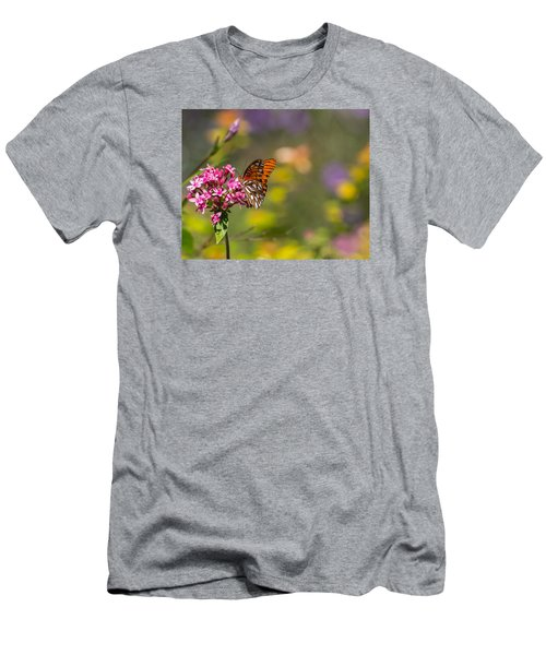 Men's T-Shirt (Athletic Fit) featuring the photograph Passion Butterfly  by Julie Andel