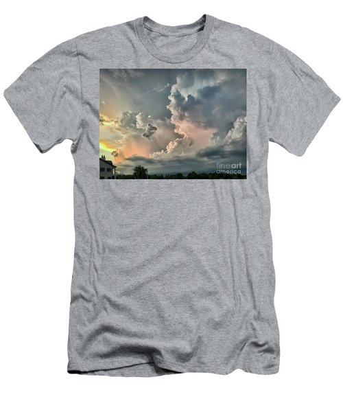 Pastel Clouds Men's T-Shirt (Slim Fit) by Walt Foegelle