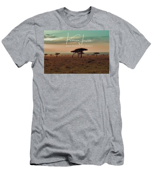 Men's T-Shirt (Slim Fit) featuring the photograph Pastel Dawn On The Mara by Karen Lewis