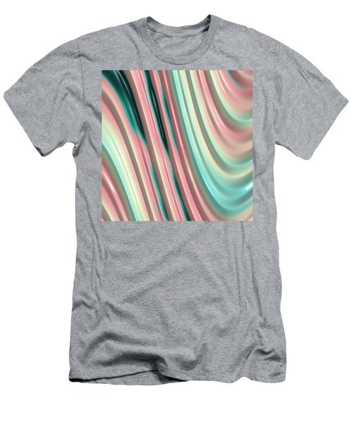 Men's T-Shirt (Slim Fit) featuring the photograph Pastel Fractal 2 by Bonnie Bruno