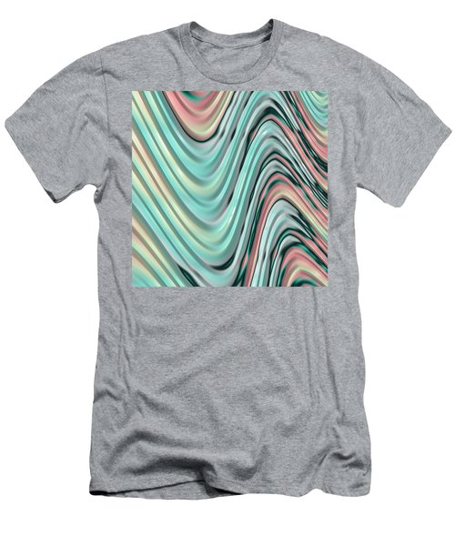 Men's T-Shirt (Slim Fit) featuring the digital art Pastel Zigzag by Bonnie Bruno