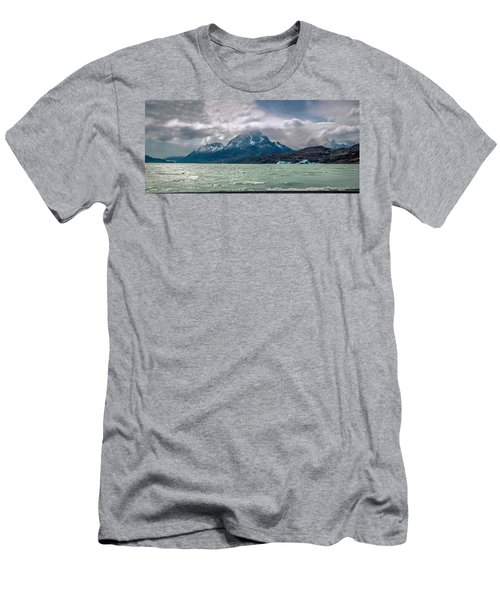 Men's T-Shirt (Slim Fit) featuring the photograph Patagonia Lake by Andrew Matwijec
