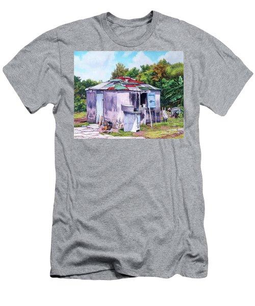 Cat Island Patch Men's T-Shirt (Athletic Fit)