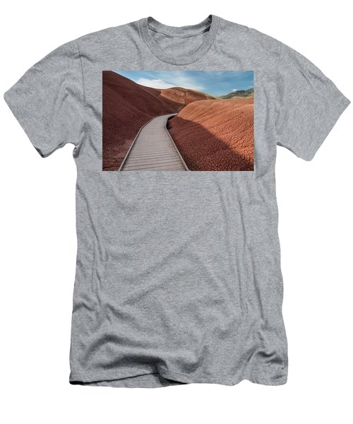 Men's T-Shirt (Slim Fit) featuring the photograph Pathway Through The Reds by Greg Nyquist