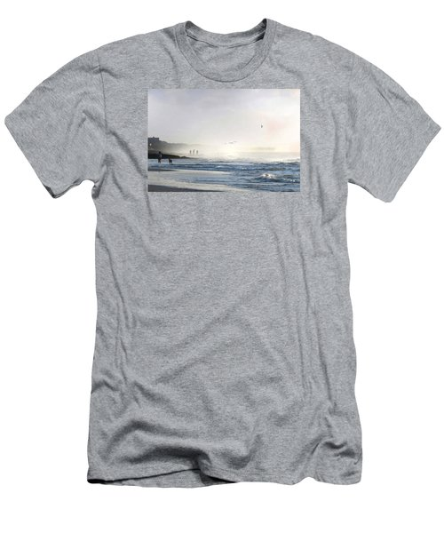 Men's T-Shirt (Slim Fit) featuring the digital art Pawleys Island Morning Mist by Deborah Smith