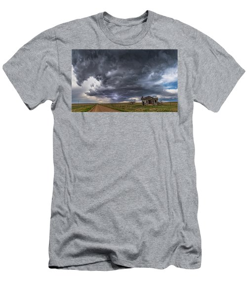Men's T-Shirt (Athletic Fit) featuring the photograph Pawnee School Storm by Darren White