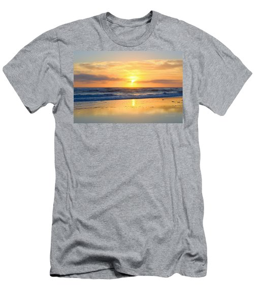 Men's T-Shirt (Athletic Fit) featuring the photograph Pea Island In November by Barbara Ann Bell