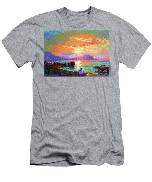 Peace Be Still Meditation Men's T-Shirt (Athletic Fit)