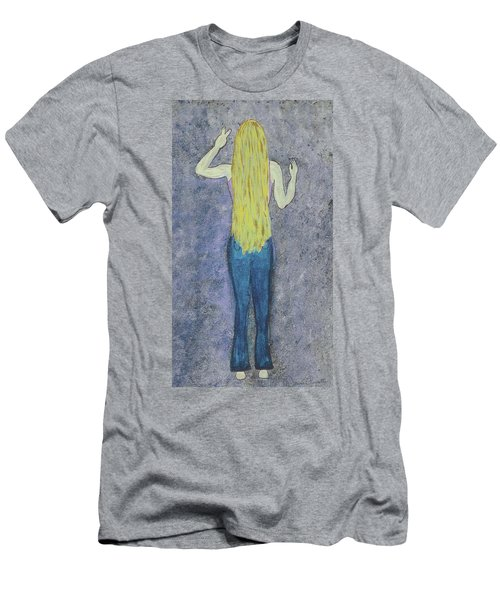 Men's T-Shirt (Slim Fit) featuring the mixed media Peace by Desiree Paquette