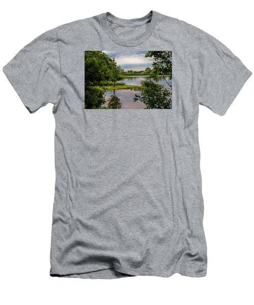 Peaceful Evening Men's T-Shirt (Slim Fit) by Alana Thrower