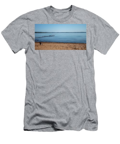 Men's T-Shirt (Slim Fit) featuring the photograph Grand Traverse Bay Beach-michigan  by Joann Copeland-Paul